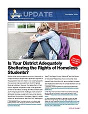 2018 Q4 SLRMA Newsletter - Is Your District Adequately Sheltering the Rights of Homeless Students?