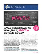 2019 Q1 SLRMA Newsletter - Is Your District Ready for When, Not If, #MeToo Comes to School?