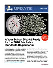 2019 Q4 SLRMA Newsletter - Is Your School District Ready for the 2020 Fair Labor Standards Regulations