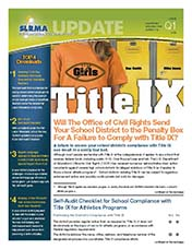 2012 Q1 SLRMA Newsletter - Will The Office of Civil Rights Send Your School District to the Penalty Box For A Failure to Comply with Title IX?