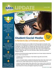 2013 Q3 SLRMA Newsletter - Student Social Media: A Pandora's Box of Potential Liability