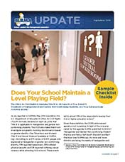 2014 Q3 SLRMA Newsletter - Does Your School Maintain a Level Playing Field?