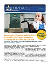 2015 Q3 SLRMA Newsletter - Department of Justice and the Office for Civil Rights Target Schools for Violating the ADA and Section 504